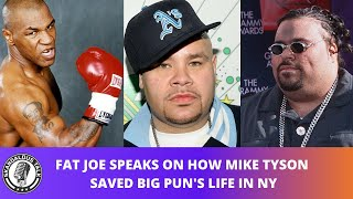 Fat Joe Tells Jamie Foxx How Mike Tyson Saved Big Pun In New York City | 2020