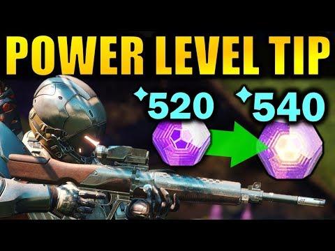 Destiny 2: BIG POWER LEVELING TIP! - Get to 600 Power Faster   Forsaken