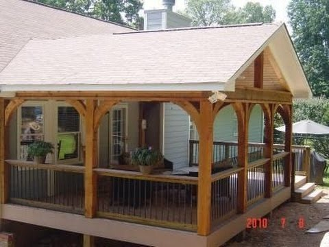 Deck Roof Styles  YouTube