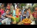 Green Coriander Pakora/Chop Prepared To Serve Kids & Villagers | Crispy Tasty & Healthy Village Food