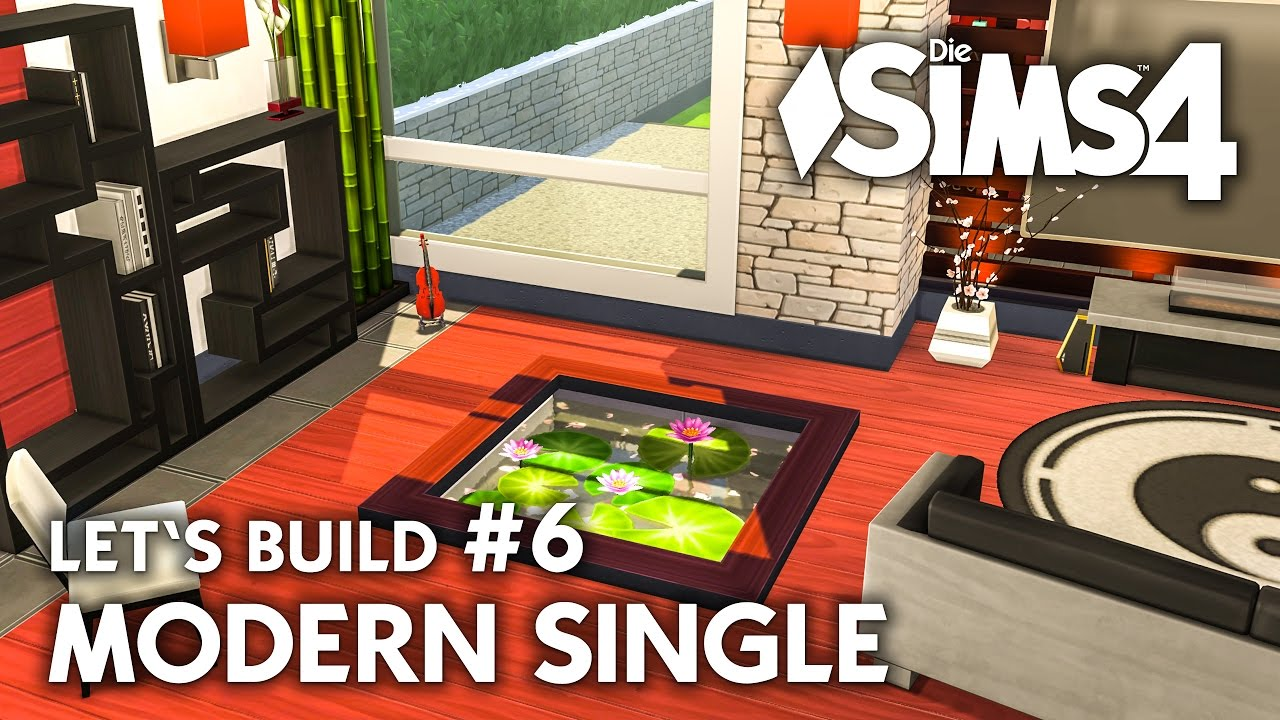 die sims 4 haus bauen modern single 6 let 39 s build. Black Bedroom Furniture Sets. Home Design Ideas