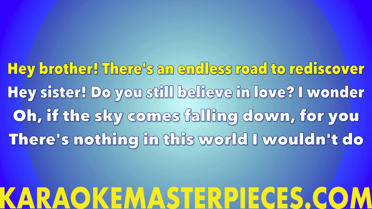 Hey Brother (Instrumental) Avicii [Karaoke Cover] with Lyrics & Remix Stems