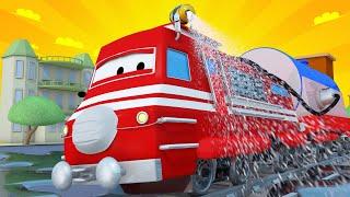 Troy der Zug -  Sanitätszug  - Autopolis 🚄 Lastwagen Zeichentrickfilme für Kinder