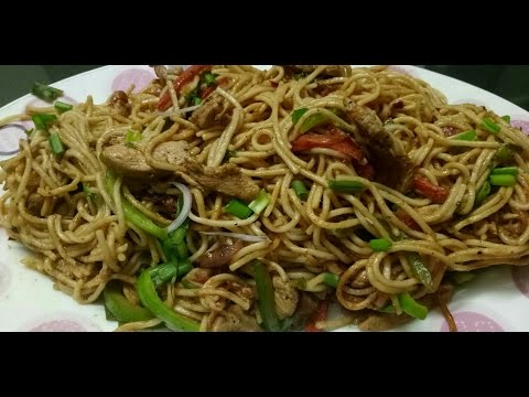Chicken Noodles Recipe /Restaurent Style Chinese Chicken Noodles  Recipe