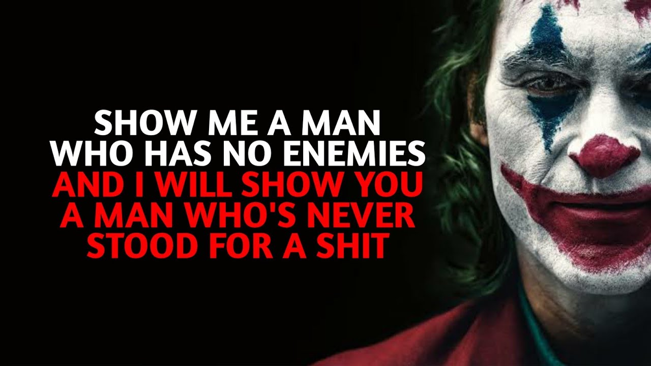 motivational joker quotes mr villain quotes