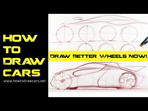 Car Design Drawings - Secrets of Drawing Wheels