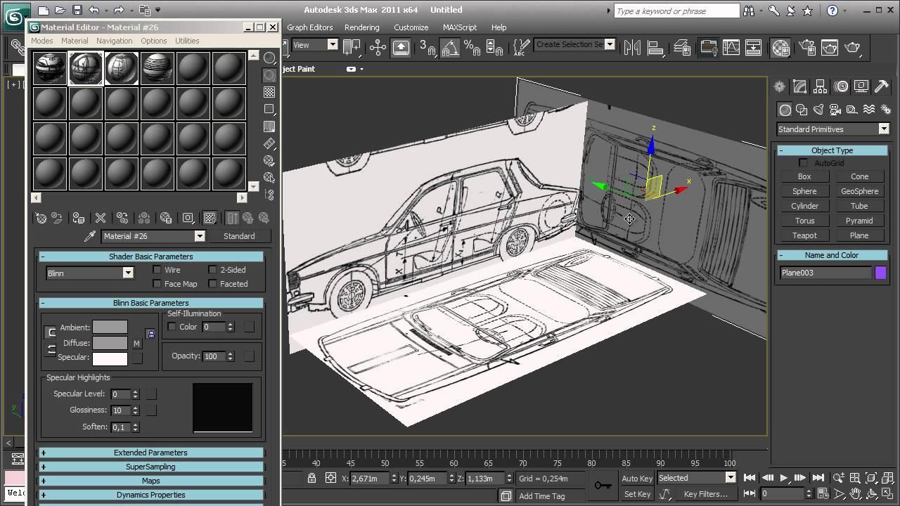 3d studio max dacia 1300 blueprint setup youtube malvernweather Images
