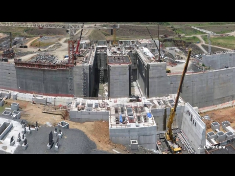 Official Panama Canal Expansion Timelapse 2011-2016