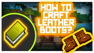 RealmCraft #GameTutorials - How to Craft Armor? (Leather Boots Crafting)