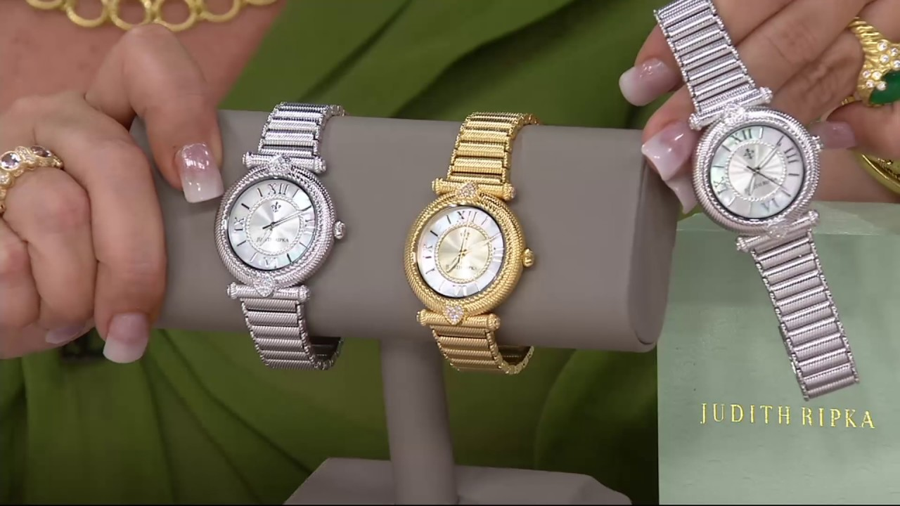 Judith Ripka Stainless Steel Avignon Watch on QVC - YouTube