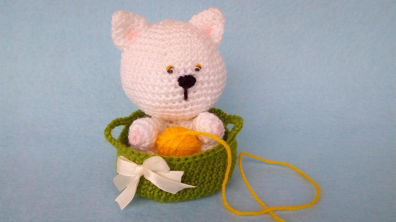 Gatto Nella Cesta Subtitulos Espanol English Cat Basket Crochet