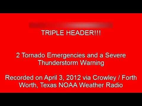 TORNADO EMERGENCY for Arlington, Dallas, and Hutchins, TX (EAS #203-205)