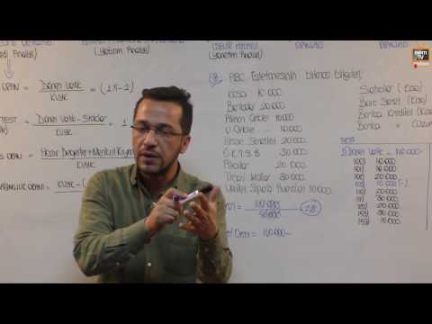 32) A Grubu - Muhasebe - Oran Analizi - Fatih DALKIRAN (2017)