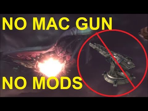 Halo Reach - Destroying The Covenant Cruiser WITHOUT The MAC Cannon OR Mods