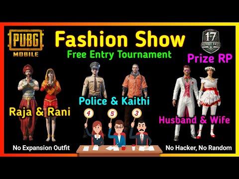 Pubg Mobile Fashion Show Tournament 💃🕴️- Free Entry - Prize Royal Pass - King of Fire