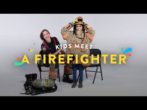 Kids Meet a Fire Fighter | Kids Meet | HiHo Kids