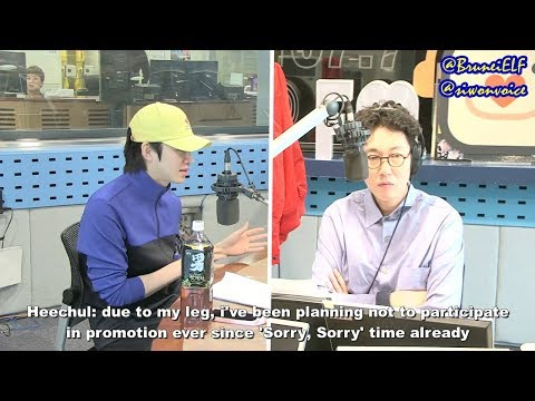 [ENGSUB] 180413 KYC SBS PowerFM – Heechul talks about not joining Lo Siento promotion