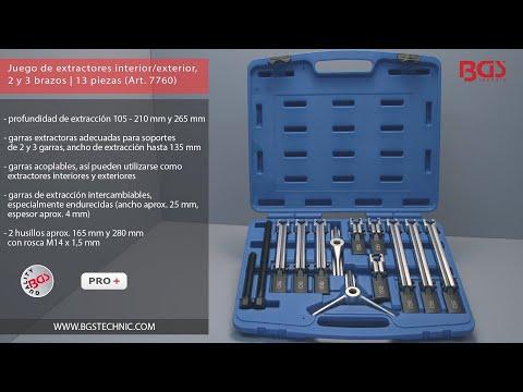 BGS 2299 1//4 92 piezas entrada 6,3 mm 3//8   medidas en pulgadas // 10 mm Juego de llaves de vaso hexagonal