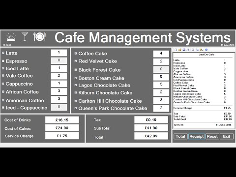 C# Object Oriented Approach Cafe Management Systems - Full T