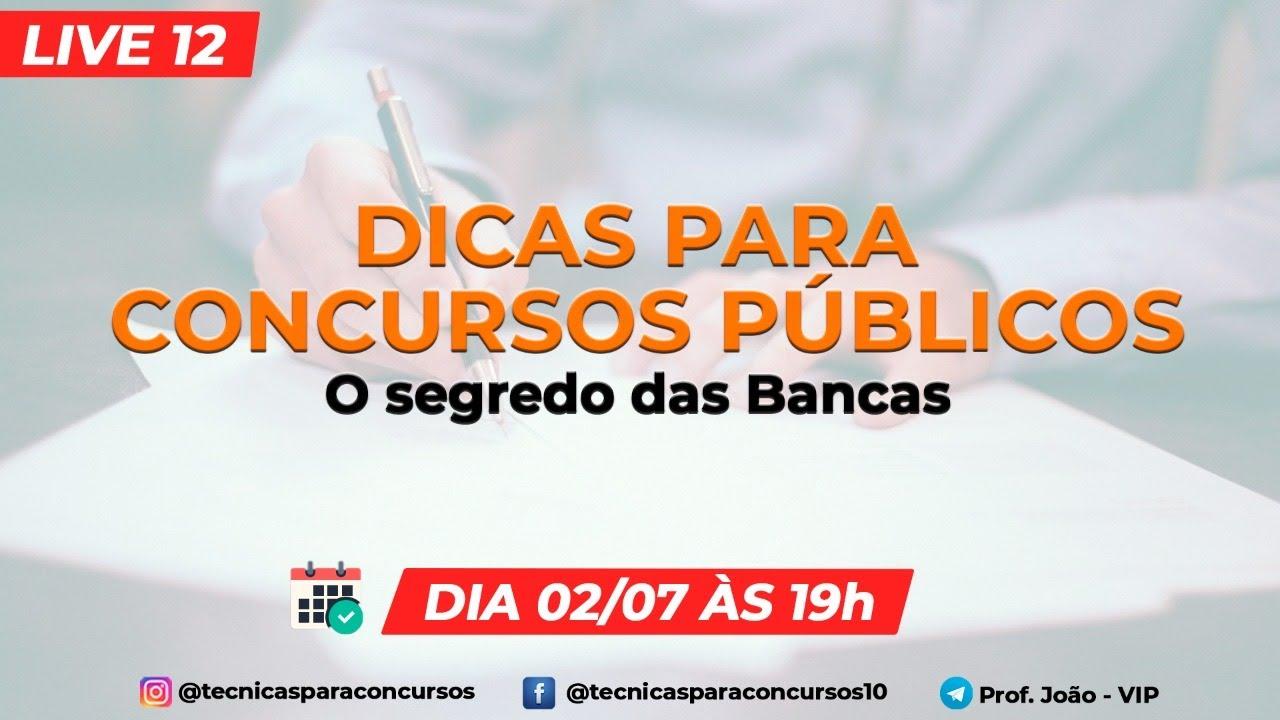 LIVE 12 - COMO ACERTAR QUESTÕES DE CONCURSOS PÚBLICOS