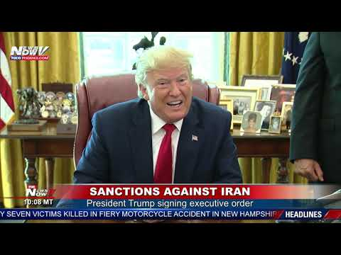 "IRAN SANCTIONS: Trump signs executive order issuing ""hard hitting"" sanctions on Iran"