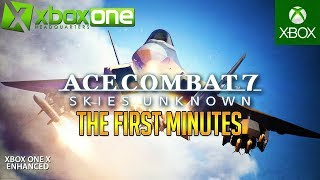 [4K] Ace Combat 7: Skies Unknown Xbox One X Gameplay - The First Minutes In Ultra HD