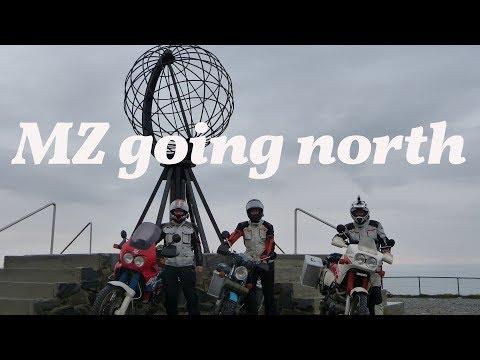 Mit der MZ zum Nordkapp (Nordkap) - ETZ 250 going north - (english subtitles)
