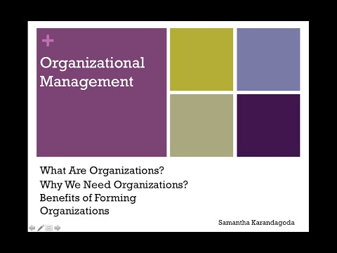 What are Organizations? Organizational Management CIMA Online Tutorial