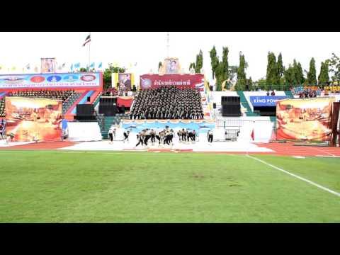สำนักงานตำรวจแห่งชาติเข้าร่วมแข่งขันการแสดงโชว์กองเชียร์และลีดเดอร์พิธีปิดงานกีฬากองทัพไทย