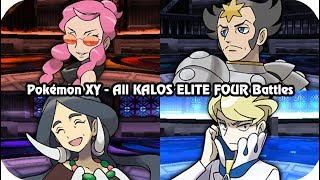 Pokémon X/Y - Every Kalos Elite Four Battles