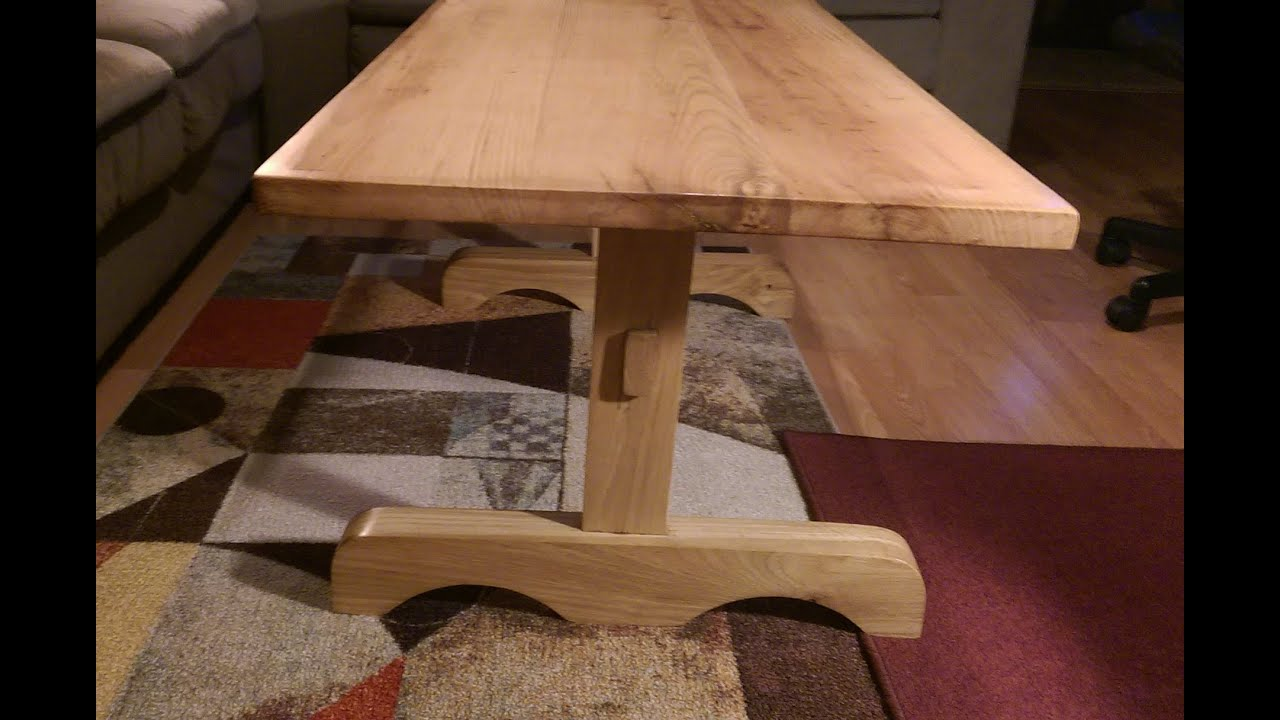 Coffee TABLE made out of Heavy Oak Hickory timbers Bonanza style