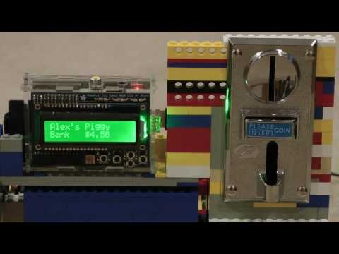 Raspberry Pi Piggy Bank with Coin Sorter  Alex Strandberg