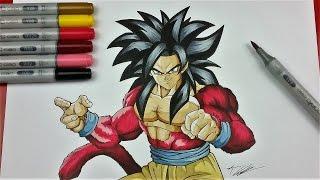 Drawing GOKU Super Saiyan 4 | Dragonball GT | TolgArt