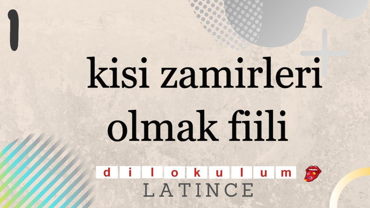 LATİNCE GRAMER DERSLERİ // DERS 1// KİŞİ ZAMİRLERİ VE OLMAK FİİLİ