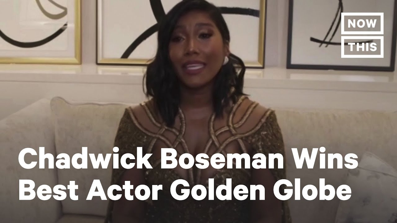 Chadwick Boseman's Wife Accepts His Golden Globe Award