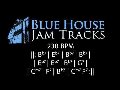 Fast Be-Bop Style Blues [Bb 230BPM] Jam Track Mp3
