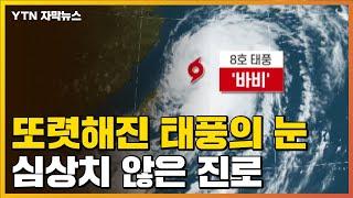 [자막뉴스] 더 강해진 제8호 태풍 '바비'...진로 바뀌었다 / YTN