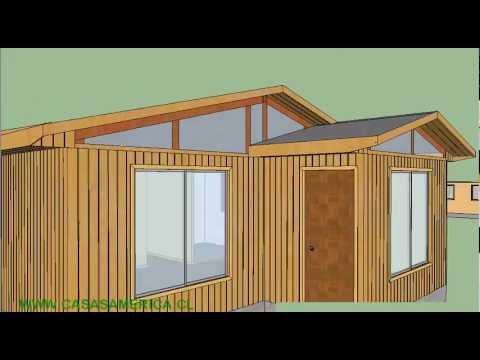Casa prefabricada 72mts con exterior en tinglado youtube - Opinion casas prefabricadas ...