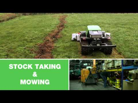 Greenbot driverless machine agriculture video