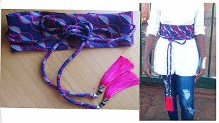 Download Video DIY OBI Belt with Ropes- African Print MP3 3GP MP4