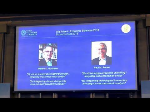 William Nordhaus, Paul Romer win 2018 Nobel Economics Prize