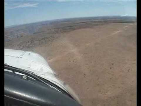 Landing at Desert Airstrip