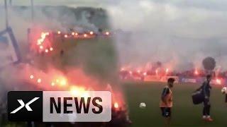 Bengalo-Show! 3.000 Fans bei S04-Training | Wahnsinn vor Derby Borussia Dortmund - FC Schalke 04