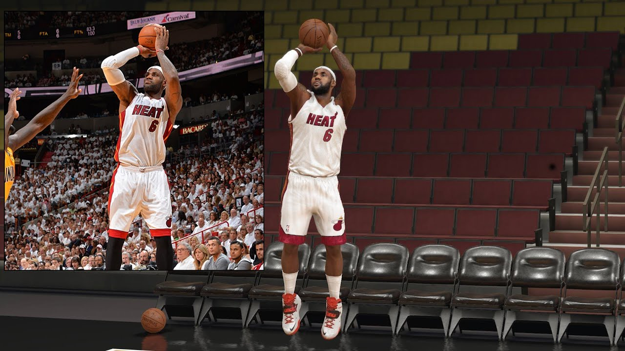 NBA 2k14 PS4 Lebron James Jump Shot Comparison - YouTube