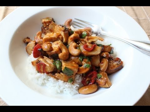 Cashew Chicken - Leftover Chicken with Cashews in Spicy, Sweet & Sour Sauce