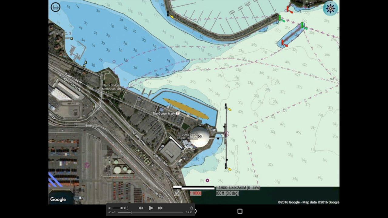 aquarius enc plotter with satellite maps  youtube - aquarius enc plotter with satellite maps