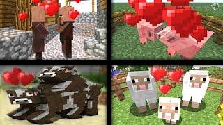 KENDİ KENDİNE ÇİFTLEŞİYORLAR! - Kolay Çiftleştirme Modu - Minecraft 1.9 Mod Tanıtımı TÜRKÇE