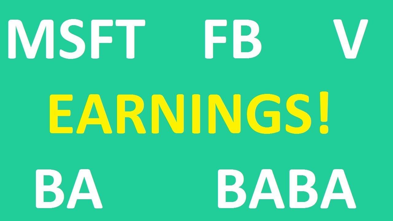 EARNINGS - Facebook, Microsoft, Visa, Boeing, Alibaba|Jan 30, 2019  Investing In Stocks For Beginners