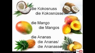 Урок 3. Немецкий. Еда ( транспорт, фрукты). Їжа.
