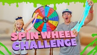 MYSTERY WHEEL OF SLIME CHALLENGE!!! (EVERLEIGH VS. DAD)